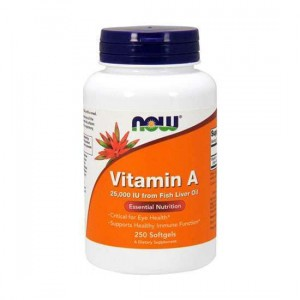 NOW Vitamin A 25000UI from Fish Liver Oil