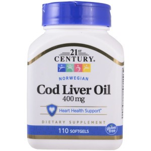 21st Century Cod Liver Oil 400 mg